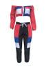 BrytCouture Fashion Patchwork Multicolor Two-piece Pants Set