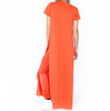 Orange Is The New Black High Side Slit Bandage Orange Maxi Dress