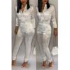 BrytCouture One-piece Sweet Zipper Design Jumpsuit  White