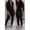 BrytCouture One-piece Sweet Zipper Design Jumpsuit  Black