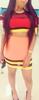 Bandage Celebrity Style BodyCon Patchwork Party Dress
