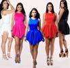 High-Low Pleated Mini Sleeveless Dress