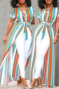 BrytCouture Trendy Striped Print Croci Blouse