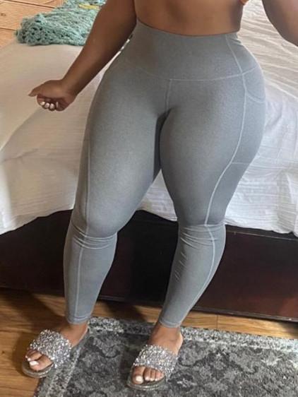 BrytCouture Sportswear Basic Skinny grey Leggings