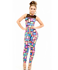 Colorful Kisses Bodycon Rompers