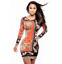 Long Sleeves Midi Bodycon Clubwear