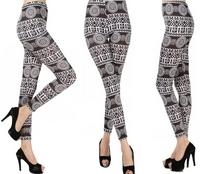 High Waist Baroque Art Printing Leggings