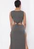 Maxi Side Slit Bandage Women Dress