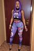 Keyshia Kaoir's Style Character Print Two-Piece Skinny Jumpsuit