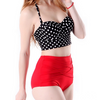 2 Piece High Waist Cup Strap Swimsuit