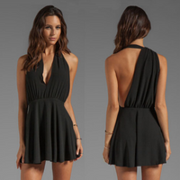 Halter Sleeveless Mini Dress