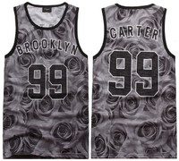 3D Floral Print Brooklyn Carter 99 Slim Fit Vest