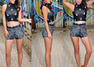 High Waist Bandana Print Women Shorts