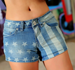 Denim Star Styled Short Pants