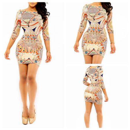 Full Sleeve Bodycon Midi Dress