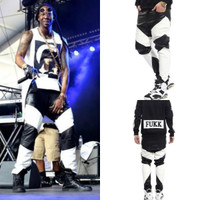 2 Chainz Mosaic Men PU Black n White Leather Pant