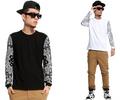 West Coast Hip Hop Streetz Long Sleeve Tee Shirt