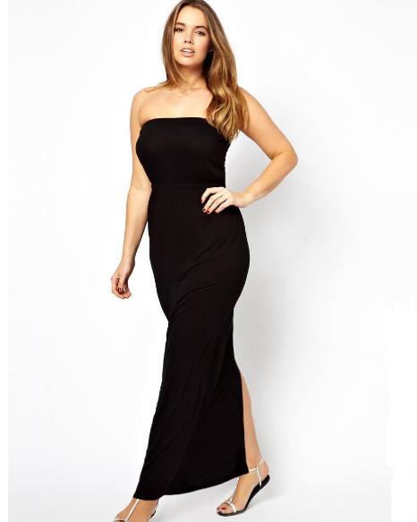 Plus Size Maxi Beach Back Slit Dress