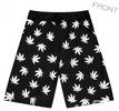 Pot Weed Marijuana Print Unisex Shorts Black