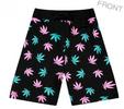 Pot Weed Marijuana Print Unisex Shorts Pink