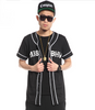 Couple MISBHV Baseball Short Sleeves Cardigan - Unisex black