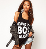 """Leave The Boy Alone"" Printed Cotton Tank"