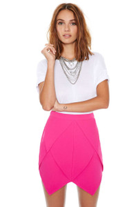 Chic Origami Layer Fuchsia Skirt
