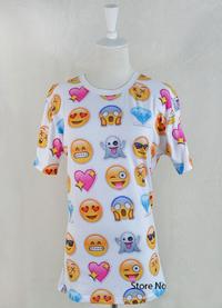 Unisex Emoji Crewneck T-Shirt