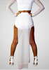 High Street 2 Pieces Long Sleeve Hollow Out Party Dress