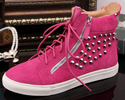 Genuine Leather Zanotty Style Rivets High-top Unisex Sneakers brytcouture