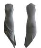 Asymmetrical Sleeveless Flare Dress