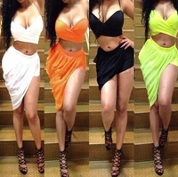 2 Piece Asymmetrical Sleeveless Twist Dress