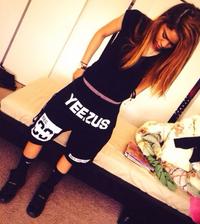 Yeezus Unisex Streets Gym Shorts - Black Female