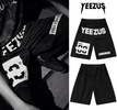Yeezus Unisex Streets Gym Shorts - Black Male