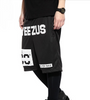Yeezus Unisex Streets Gym Shorts - Black