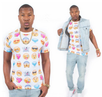 Emoji Short Sleeves T-Shirt - White