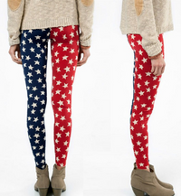 Gorgeous USA Flag Star Leggings