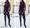 Black  Emoji Jogger female