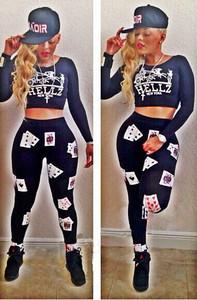 Keyshia Ka'oir 2 Piece Bodycon Card Playsuit