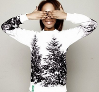 Snow Covered 3D Print Pullover Sweater