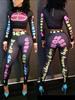 Keyshia Ka'oir 2 Piece Playtime Bodycon Jumpsuit