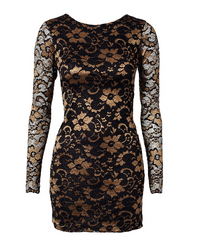Classic Two Tone Lace Dress