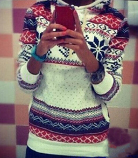 Snowflake Longsleeves Hooded Sweater