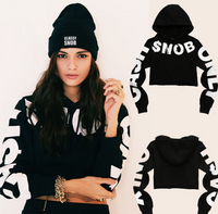 CASH ONLY SNOB Women's Crop Hoodie