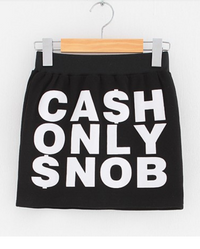CASH ONLY SNOB Women's Skirt