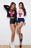 """BULLS"" Women  Raglan Crop Top Chicago Bulls"