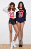 """BULLS"" Women  Raglan Crop Top"