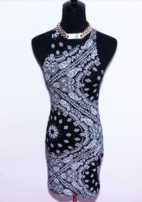 BrytCouture Limited Edition Monochrome Paisley Bandana Tank Dress