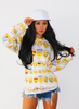 Emoji 3D Pullover Sweater White
