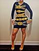 Sexy O Neck Long Sleeves Mini Bodycon Dress